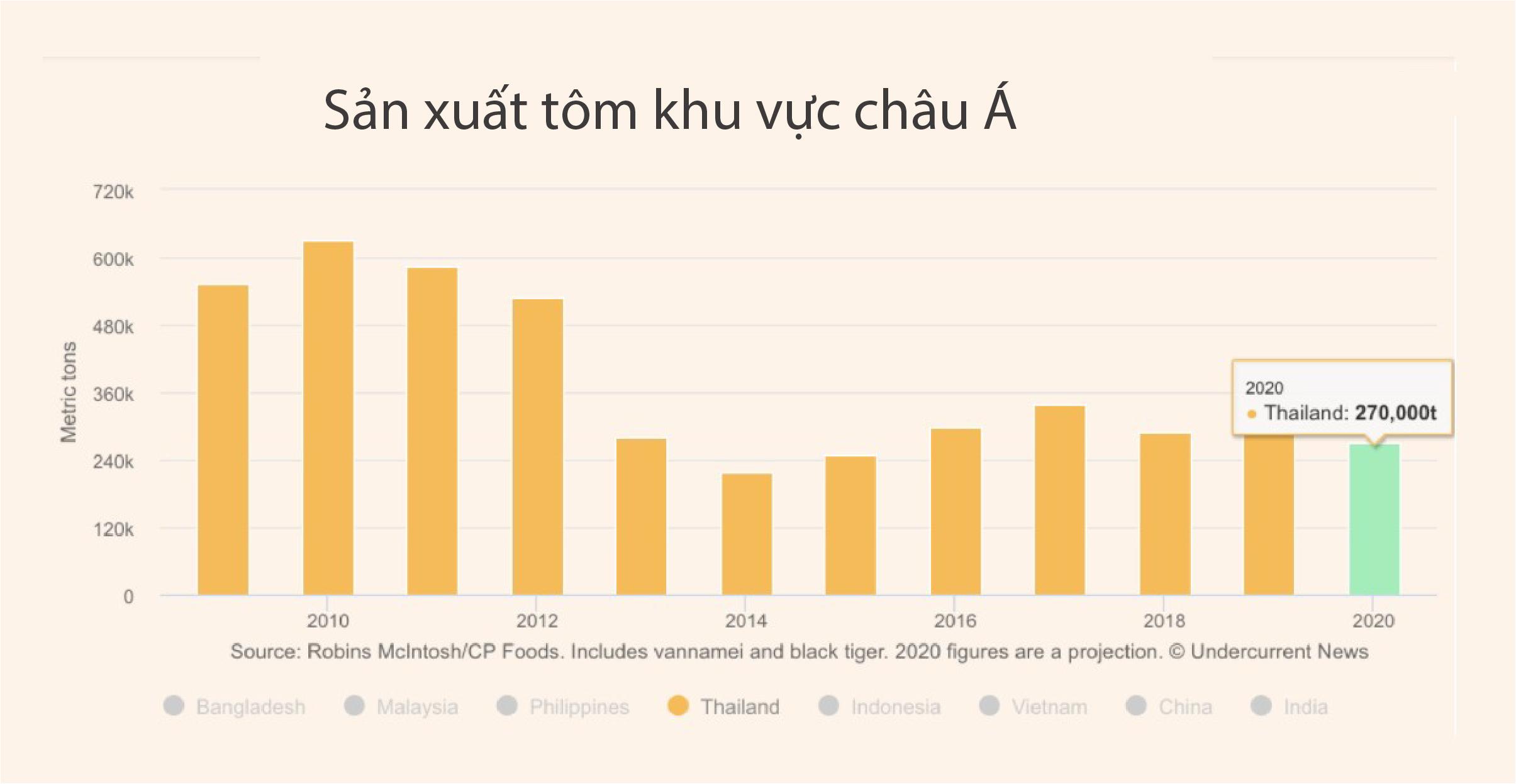 Giá tôm Thái Lan tăng trở lại khi nhu cầu của Mỹ, Trung Quốc phục hồi - Ảnh 3.