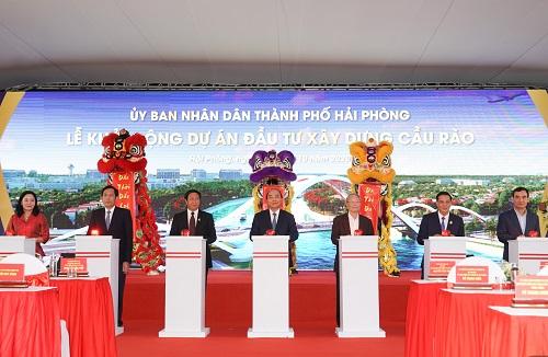 Khởi động dự án xây dựng cầu Rào hơn 2.200 tỉ đồng ở Hải Phòng - Ảnh 1.