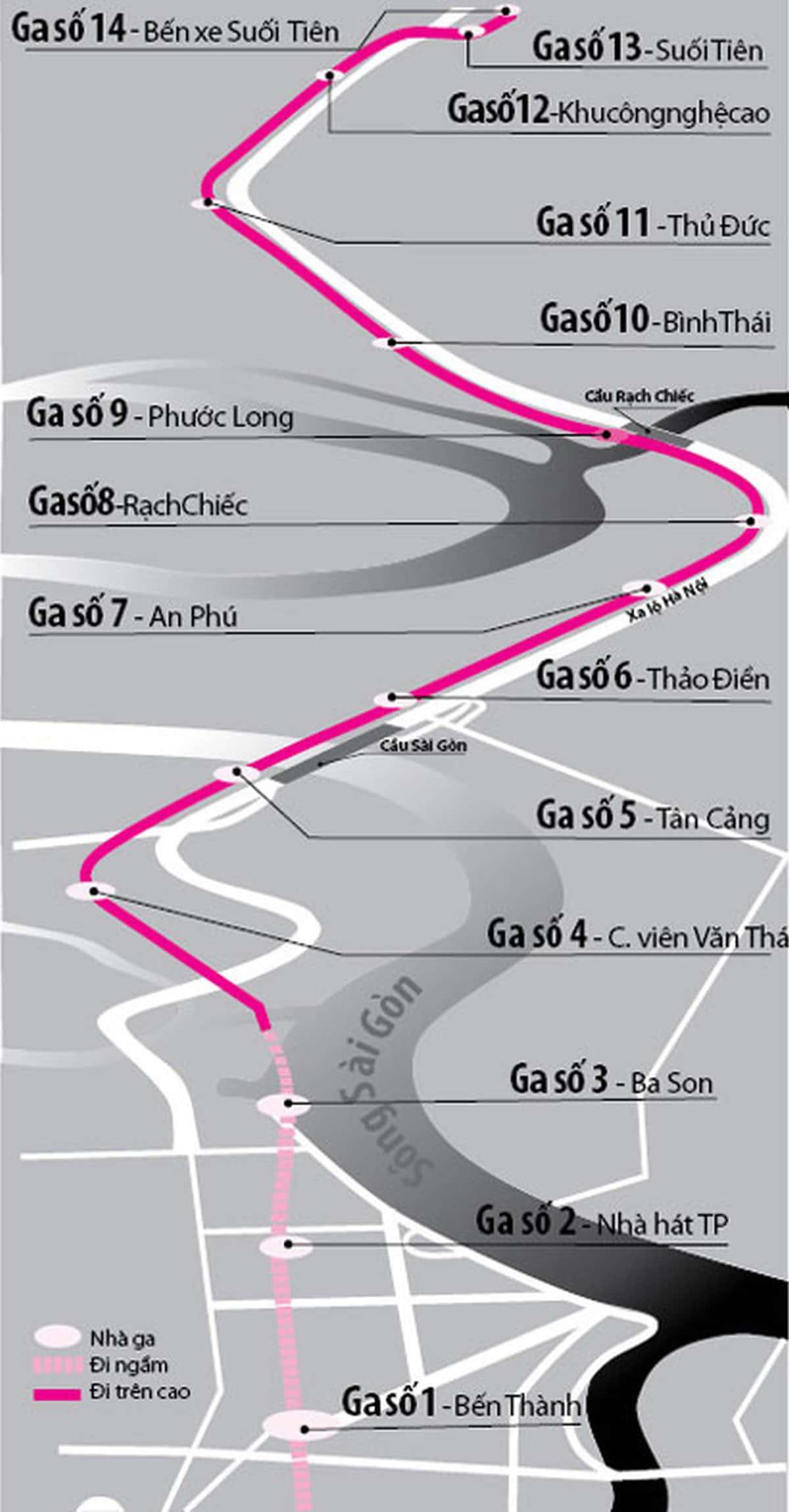 Tuyến metro số 1 Bến Thành - Suối Tiên đi qua những điểm du lịch nào? - Ảnh 1.