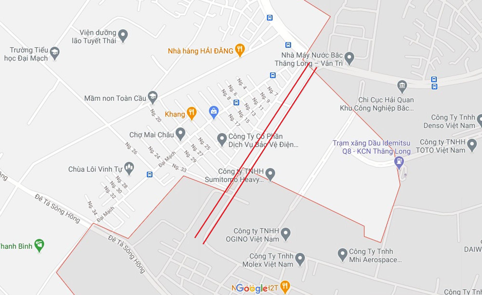 Ba đường sẽ mở theo qui hoạch ở xã Đại Mạch, Đông Anh, Hà Nội - Ảnh 7.