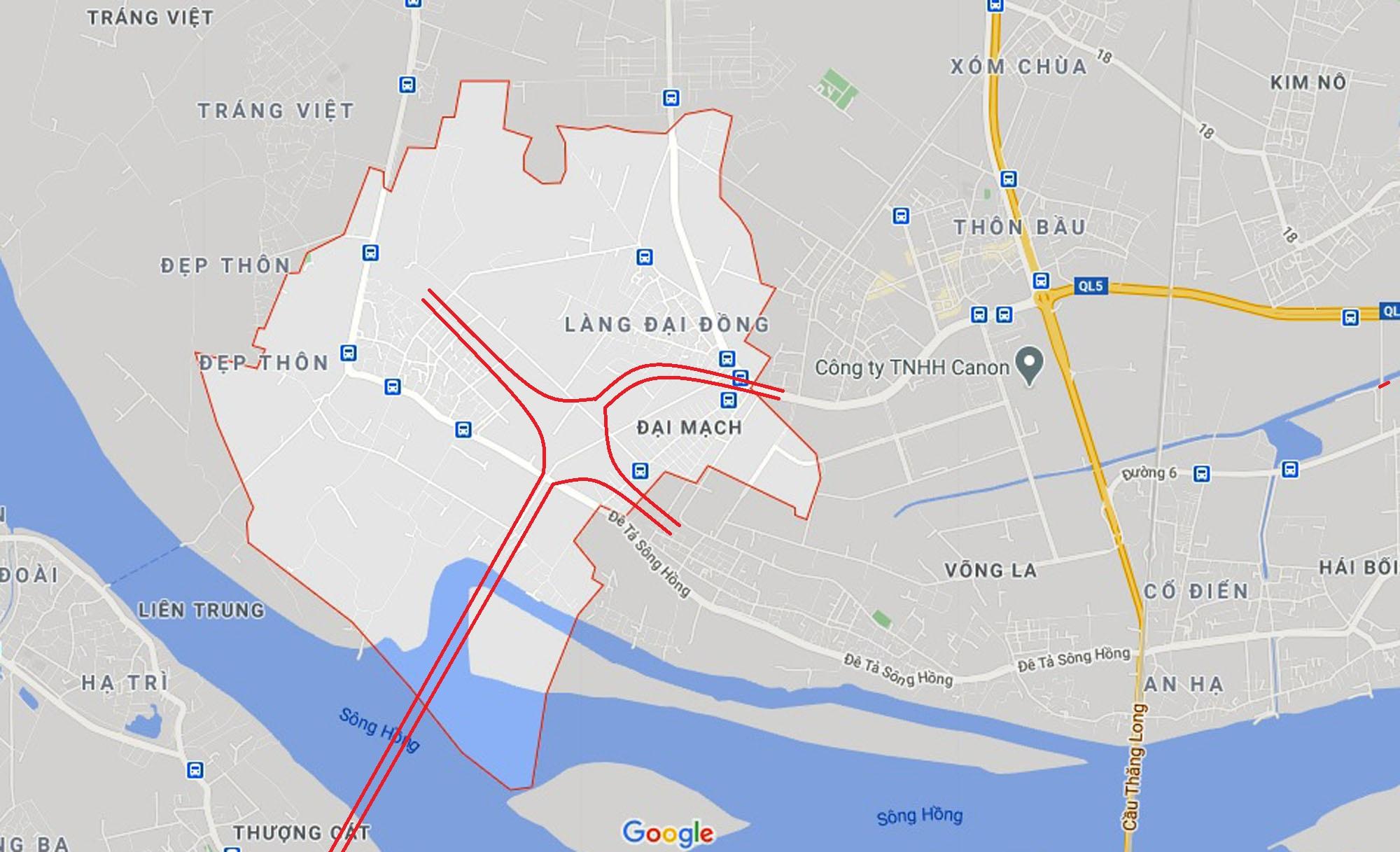 Ba đường sẽ mở theo qui hoạch ở xã Đại Mạch, Đông Anh, Hà Nội - Ảnh 2.