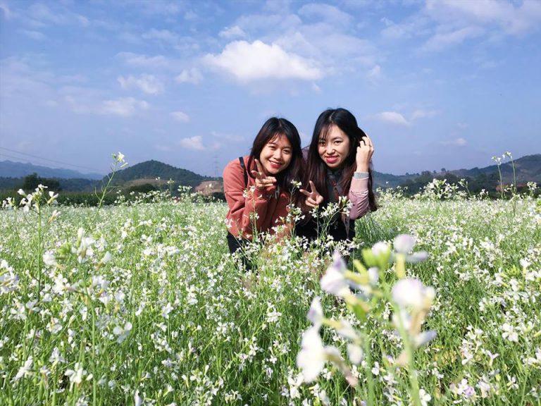 Ngẩn ngơ trước sắc trắng tinh khôi của cao nguyên Mộc Châu mùa hoa cải - Ảnh 8.