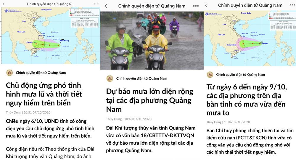 Quảng Nam ứng phó mưa lũ cho người dân qua Zalo - Ảnh 1.