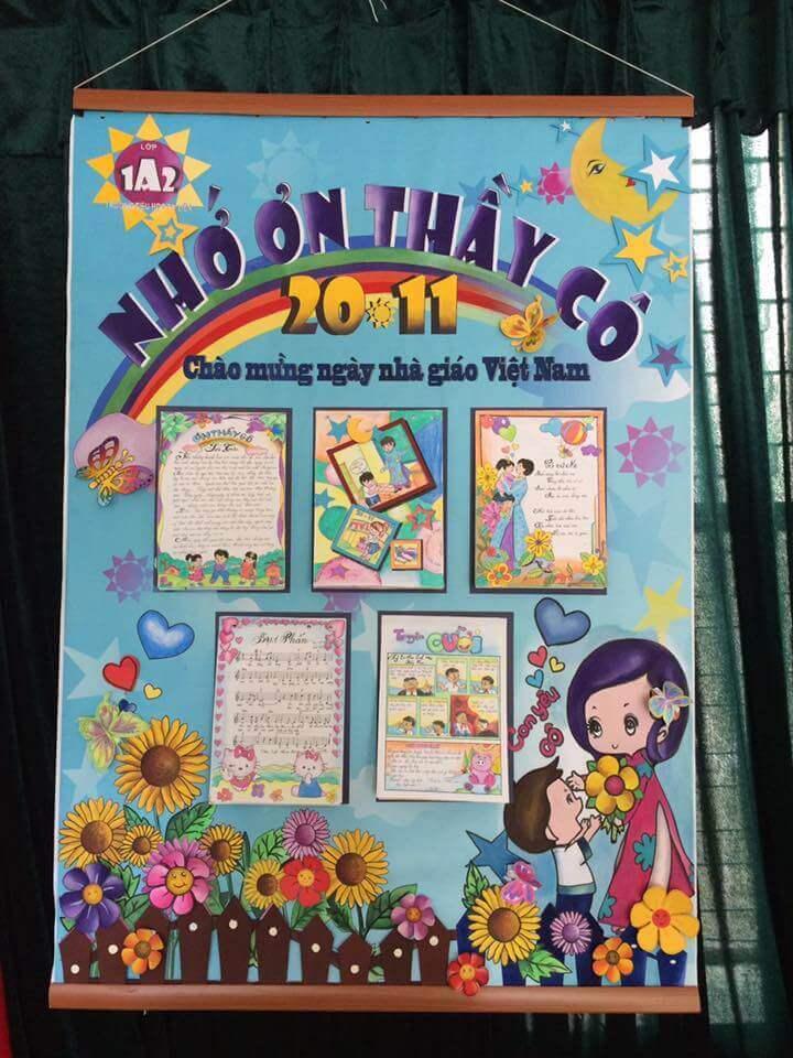 Chia sẻ 15 Mẫu báo tường ngày 20/11 đẹp, độc đáo và sáng tạo - Ảnh 13.