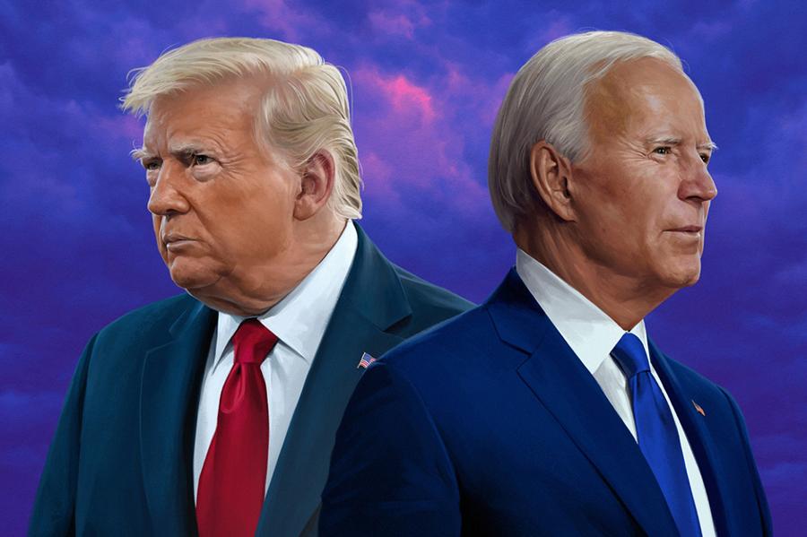 Hai thái cực Joe Biden và Donald Trump sau ngày bầu cử - Ảnh 1.