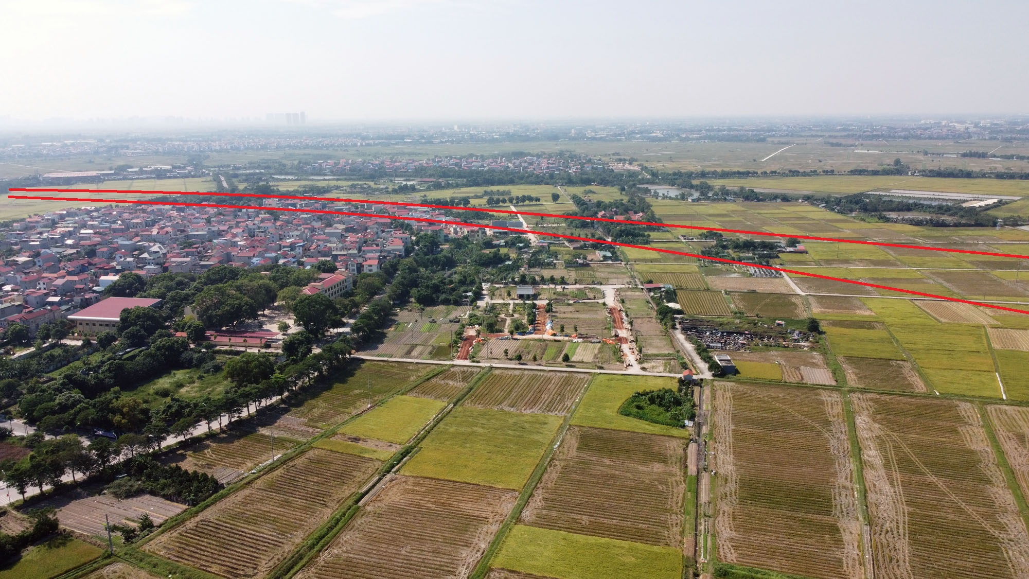 đường sẽ mở theo qui hoạch ở xã Liên Hà, Đông Anh, Hà Nội - Ảnh 10.