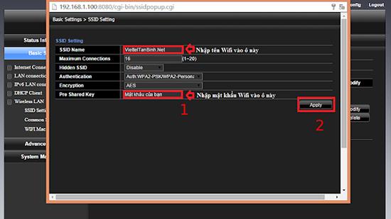 Chi tiết cách đổi mật khẩu wifi của các nhà mạng FPT, VNPT và Viettel hiện nay - Ảnh 5.
