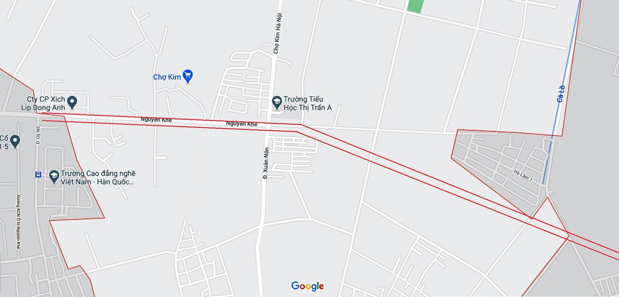 Vị trí ba đường sẽ mở theo qui hoạch ở xã Xuân Nộn, Đông Anh, Hà Nội - Ảnh 2.