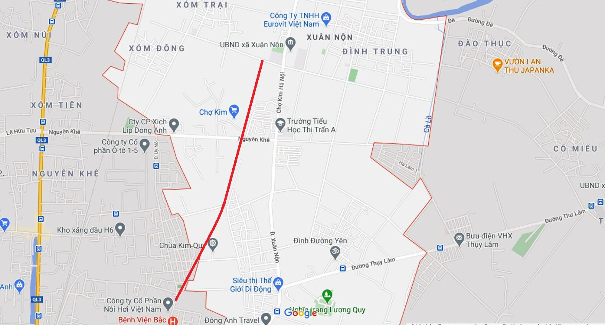 Vị trí ba đường sẽ mở theo qui hoạch ở xã Xuân Nộn, Đông Anh, Hà Nội - Ảnh 6.