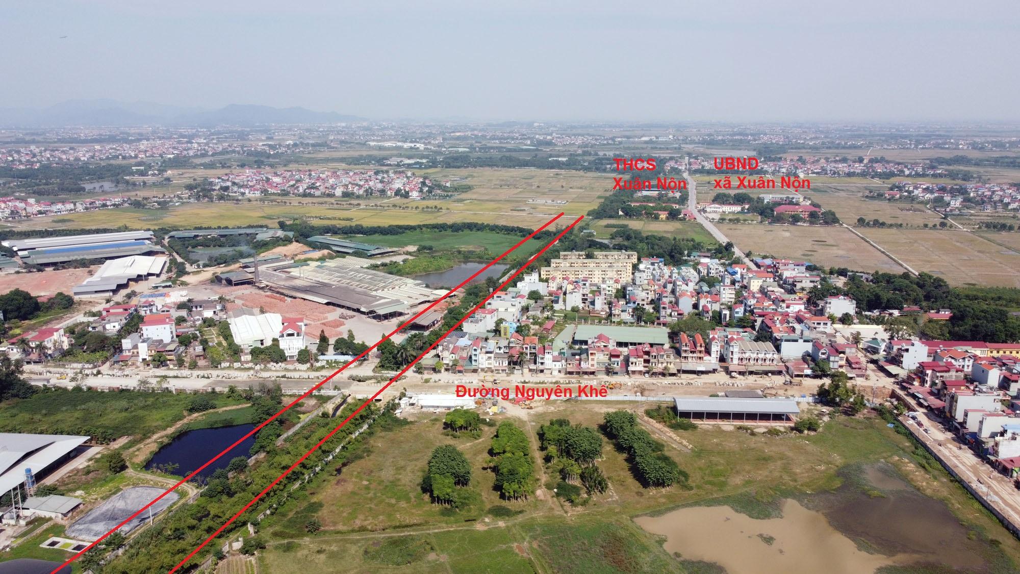 Vị trí ba đường sẽ mở theo qui hoạch ở xã Xuân Nộn, Đông Anh, Hà Nội - Ảnh 8.