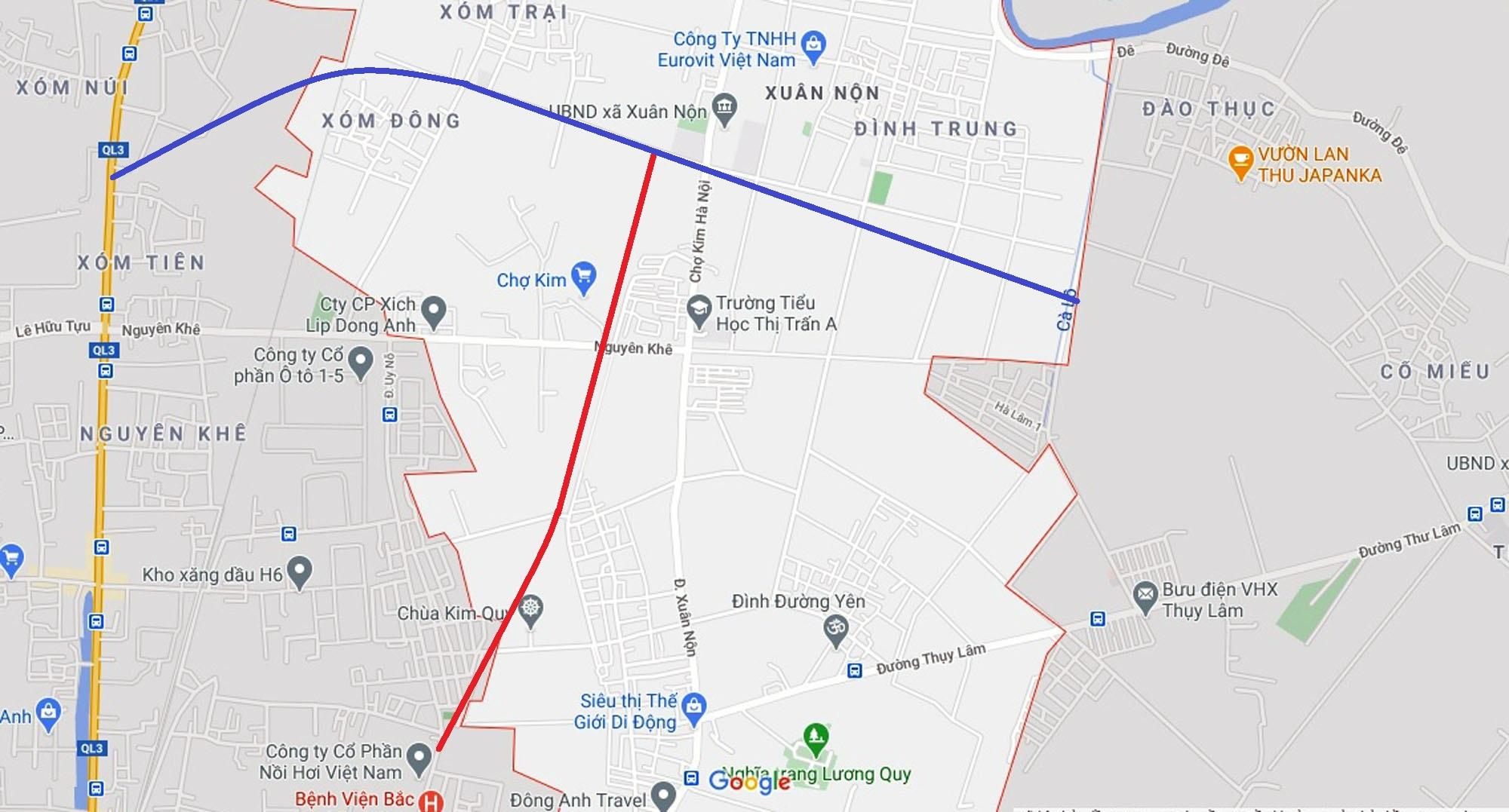 Vị trí ba đường sẽ mở theo qui hoạch ở xã Xuân Nộn, Đông Anh, Hà Nội - Ảnh 9.