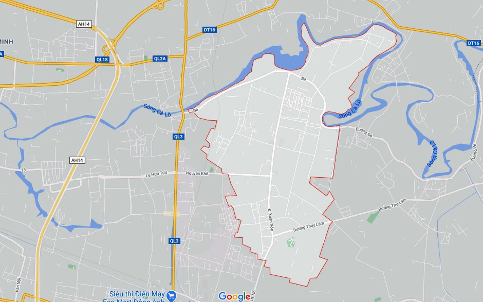 Vị trí ba đường sẽ mở theo qui hoạch ở xã Xuân Nộn, Đông Anh, Hà Nội - Ảnh 1.