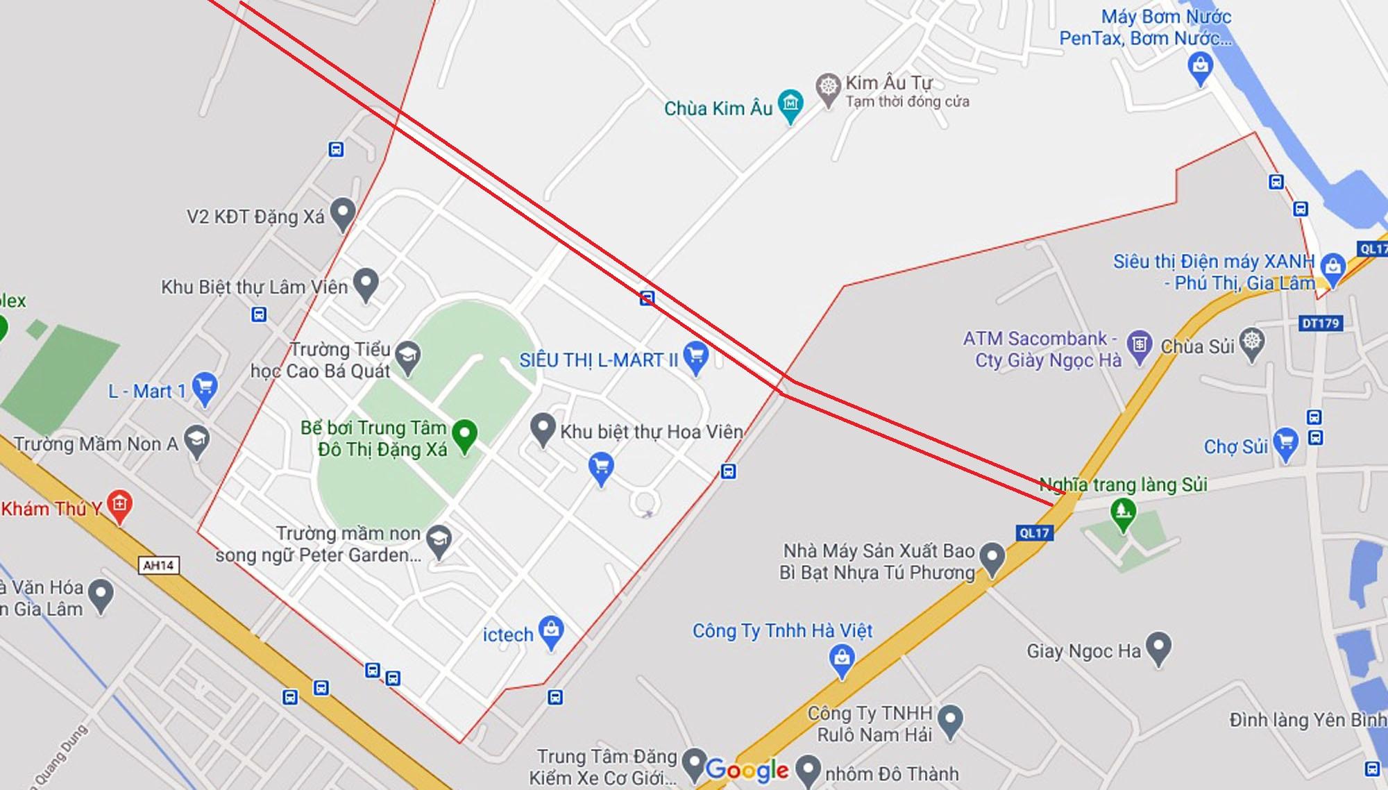 đường sẽ mở theo qui hoạch ở xã Đặng Xá, Gia Lâm, Hà Nội - Ảnh 2.