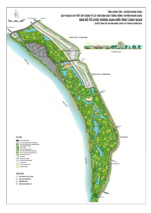 Hưng Yên duyệt điều chỉnh qui hoạch Sân Golf Sông Hồng gần 90 ha - Ảnh 1.