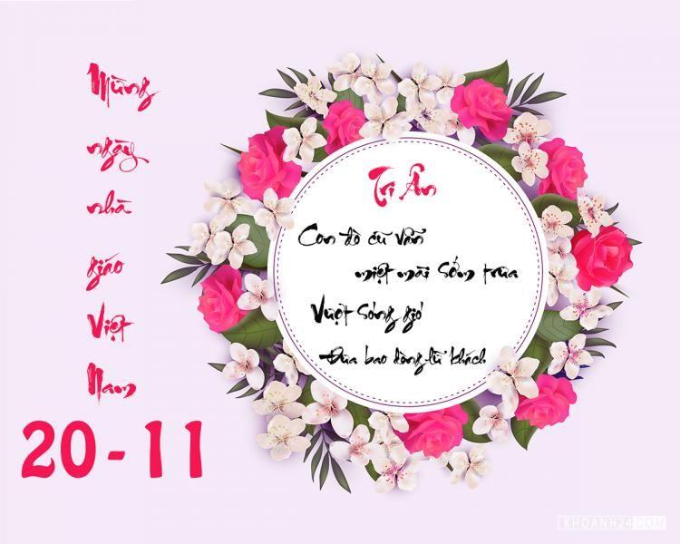 Tổng hợp 15 mẫu thiệp chúc mừng ngày 20/11 đẹp dành tặng thầy cô - Ảnh 1.