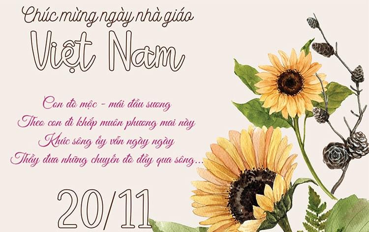 Tổng hợp 15 mẫu thiệp chúc mừng ngày 20/11 đẹp dành tặng thầy cô - Ảnh 15.