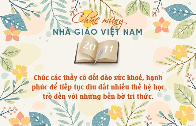 Tổng hợp 15 mẫu thiệp chúc mừng ngày 20/11 đẹp dành tặng thầy cô - Ảnh 12.