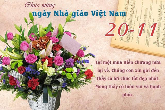 Tổng hợp 15 mẫu thiệp chúc mừng ngày 20/11 đẹp dành tặng thầy cô - Ảnh 7.