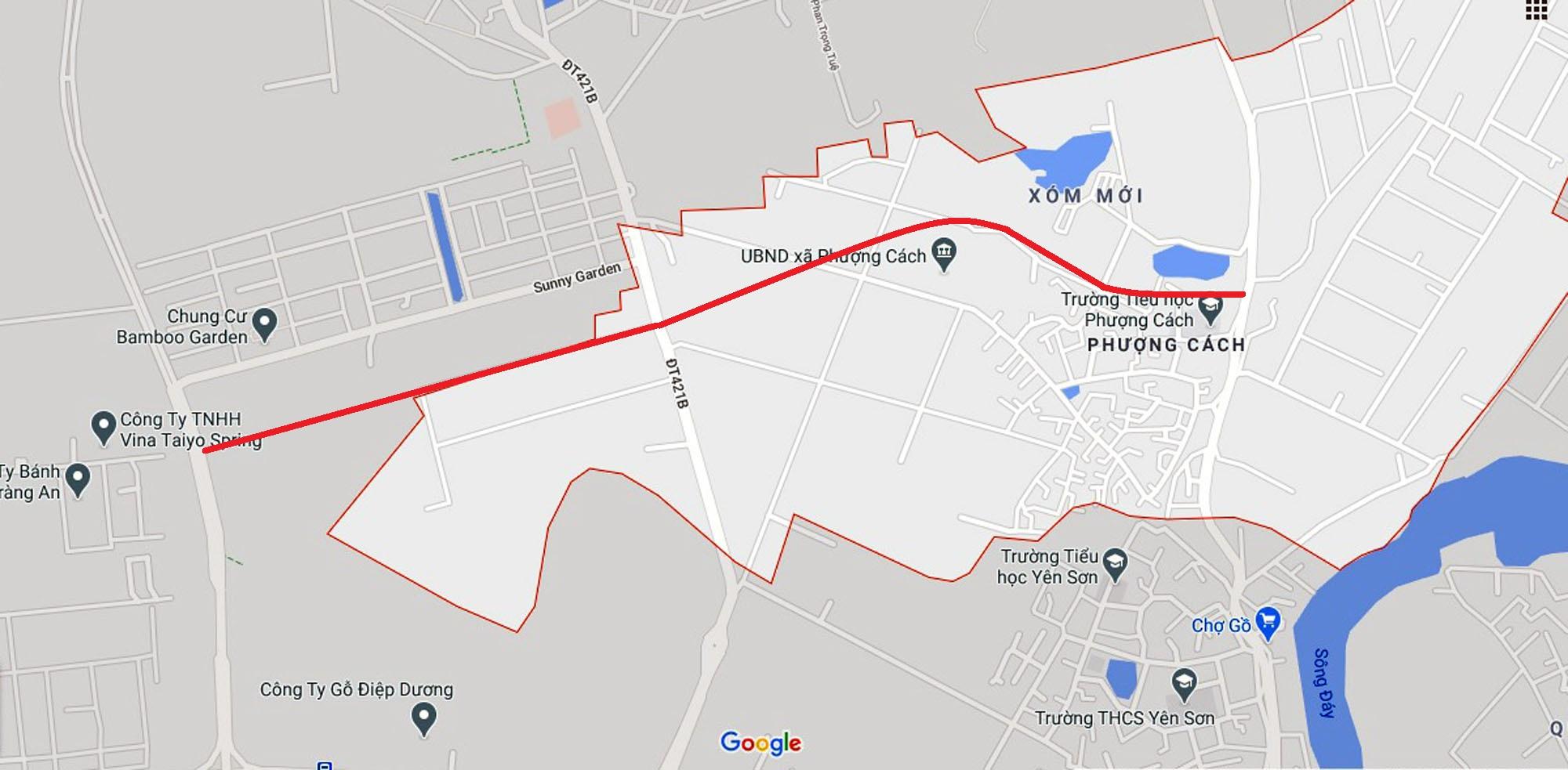 Ba đường sẽ mở theo qui hoạch ở xã Phượng Cách, Quốc Oai, Hà Nội - Ảnh 2.