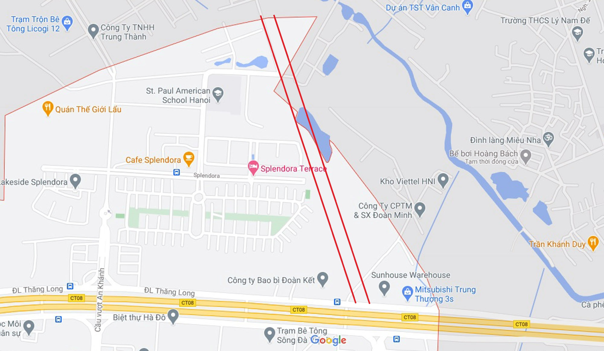 đường sẽ mở theo qui hoạch ở xã An Khánh, Hoài Đức, Hà Nội - Ảnh 2.