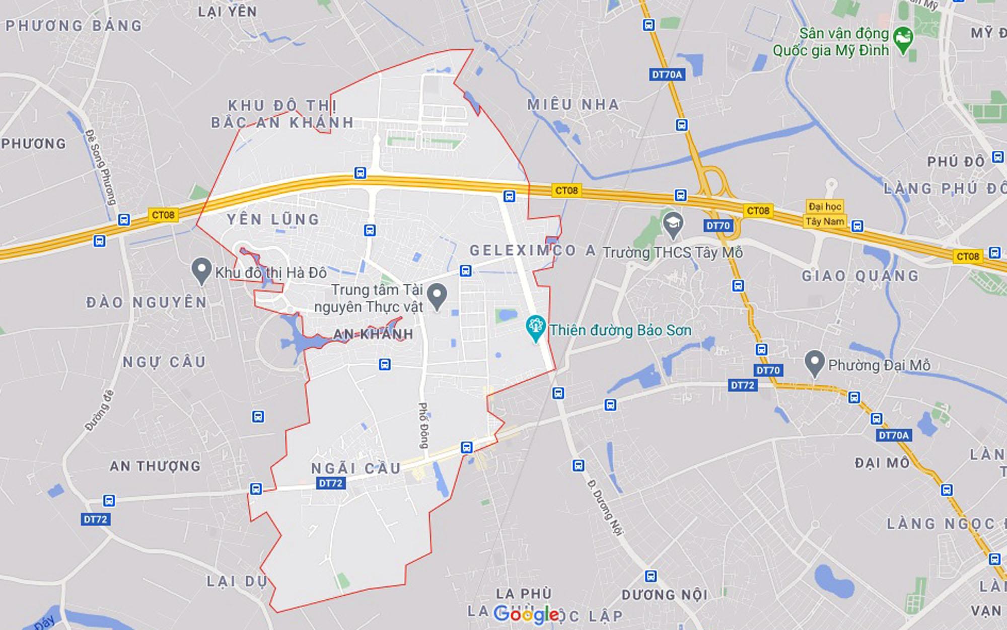 đường sẽ mở theo qui hoạch ở xã An Khánh, Hoài Đức, Hà Nội - Ảnh 1.
