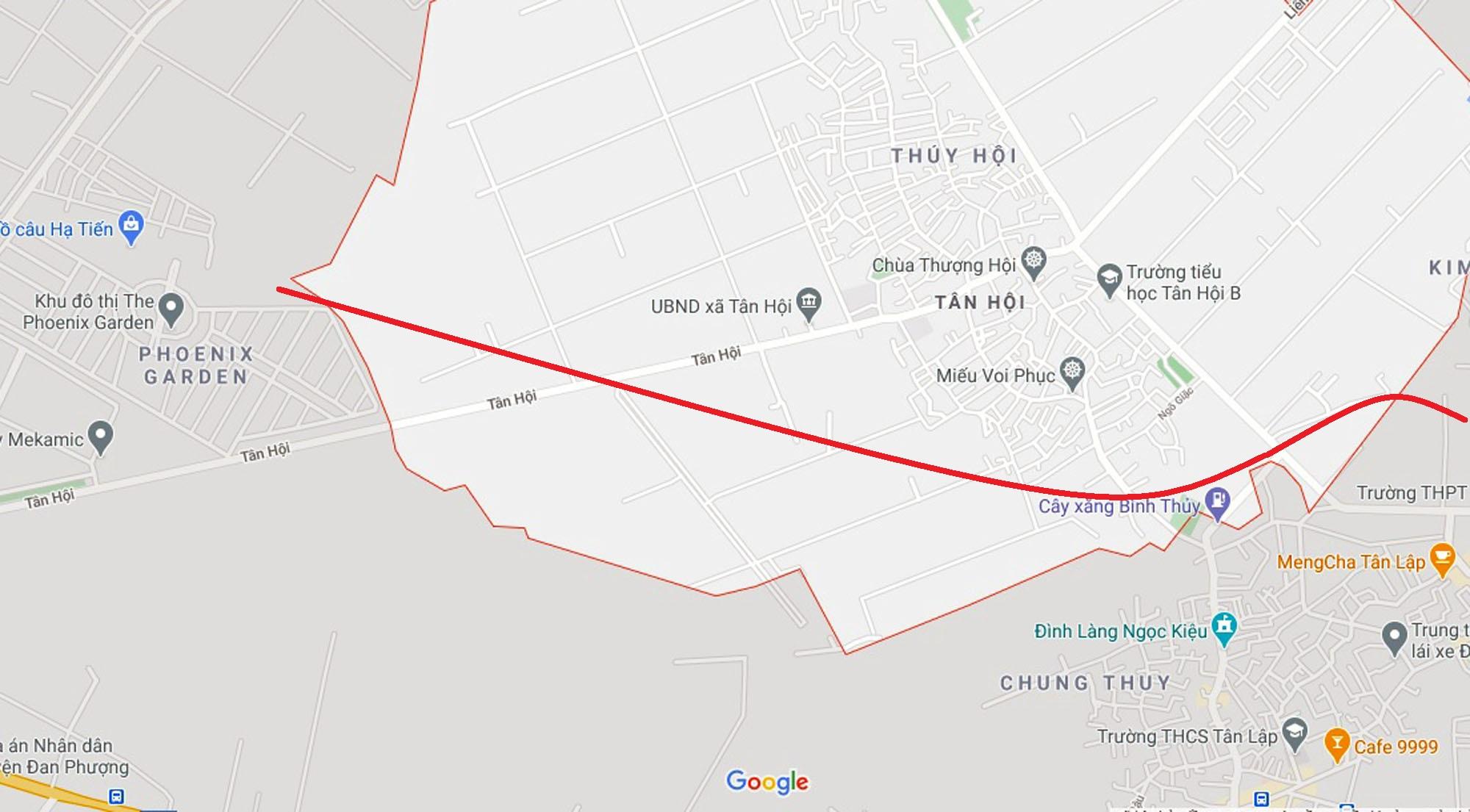 Ba đường sẽ mở theo qui hoạch ở xã Tân Hội, Đan Phượng, Hà Nội - Ảnh 2.