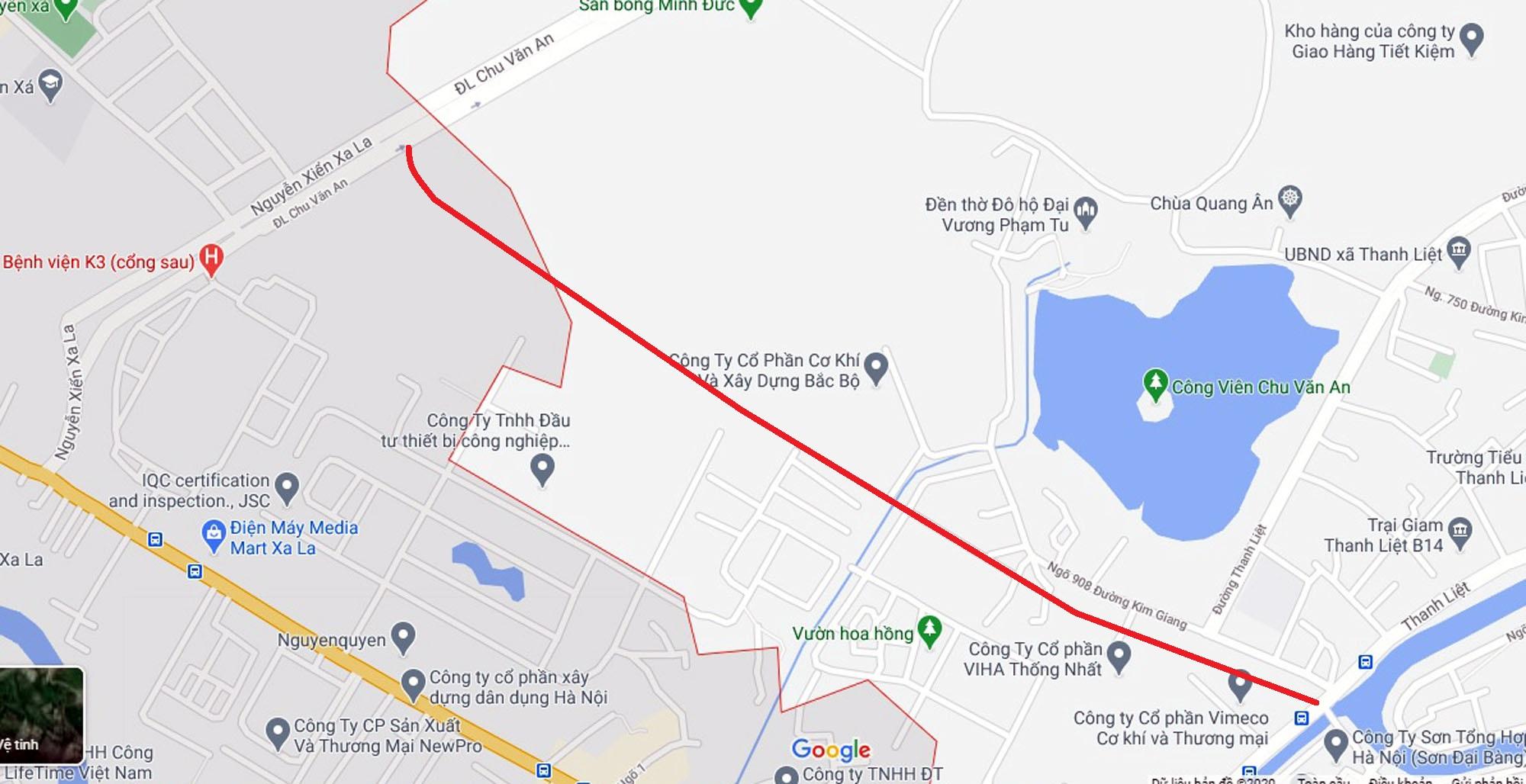 Ba đường sẽ mở theo qui hoạch ở xã Thanh Liệt, Thanh Trì, Hà Nội - Ảnh 2.