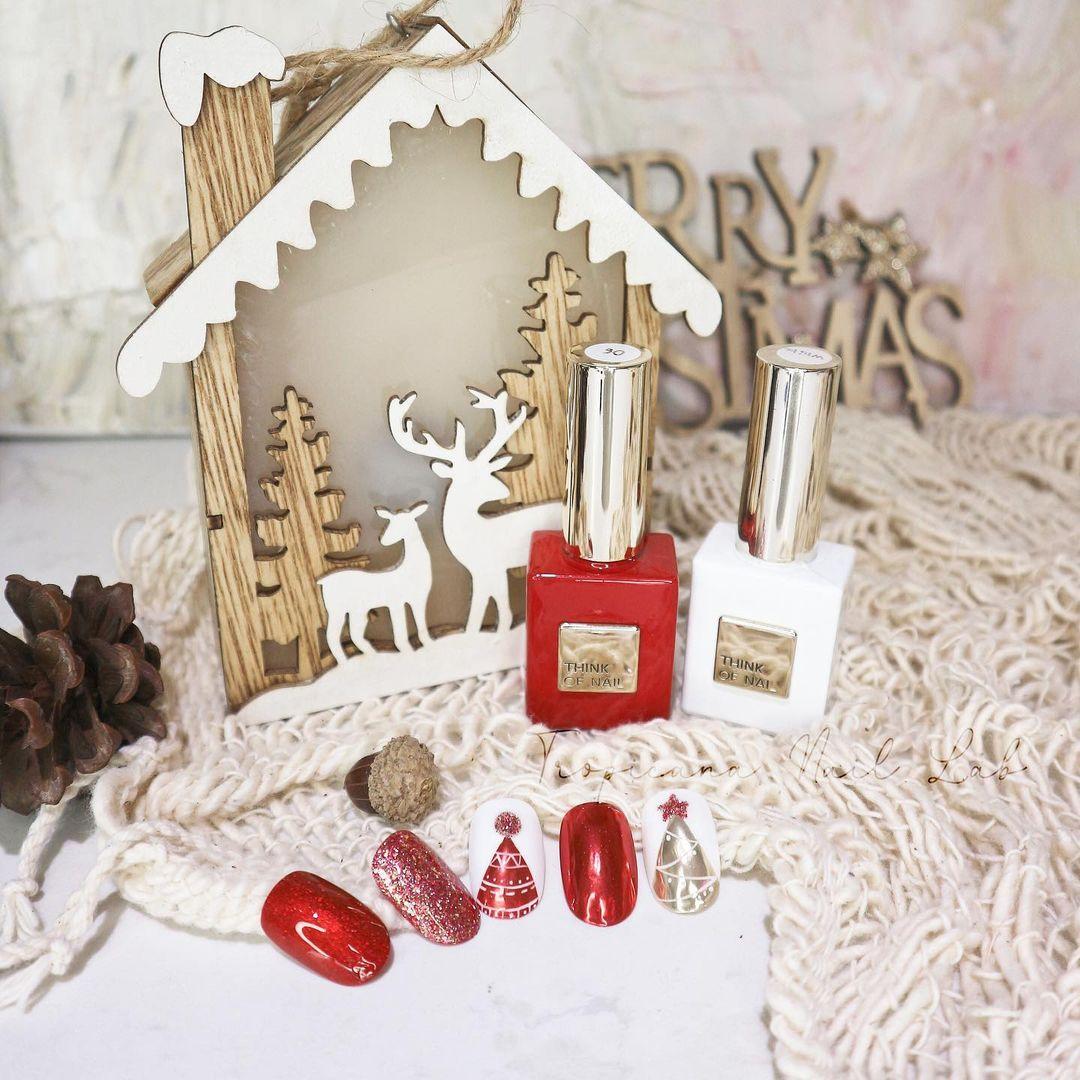 Hưởng ứng Noel bằng những mẫu nail có họa tiết nổi bật và độc đáo - Ảnh 24.