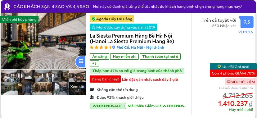 Giá khách sạn 5 sao ở một số điểm du lịch dịp Tết Dương  - Ảnh 4.