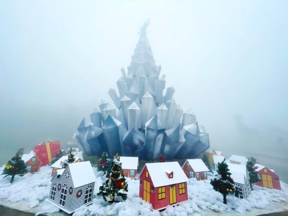 Những cây thông Noel làm từ nông sản độc đáo trong 'ngôi làng tuyết' ở Fansipan  - Ảnh 3.