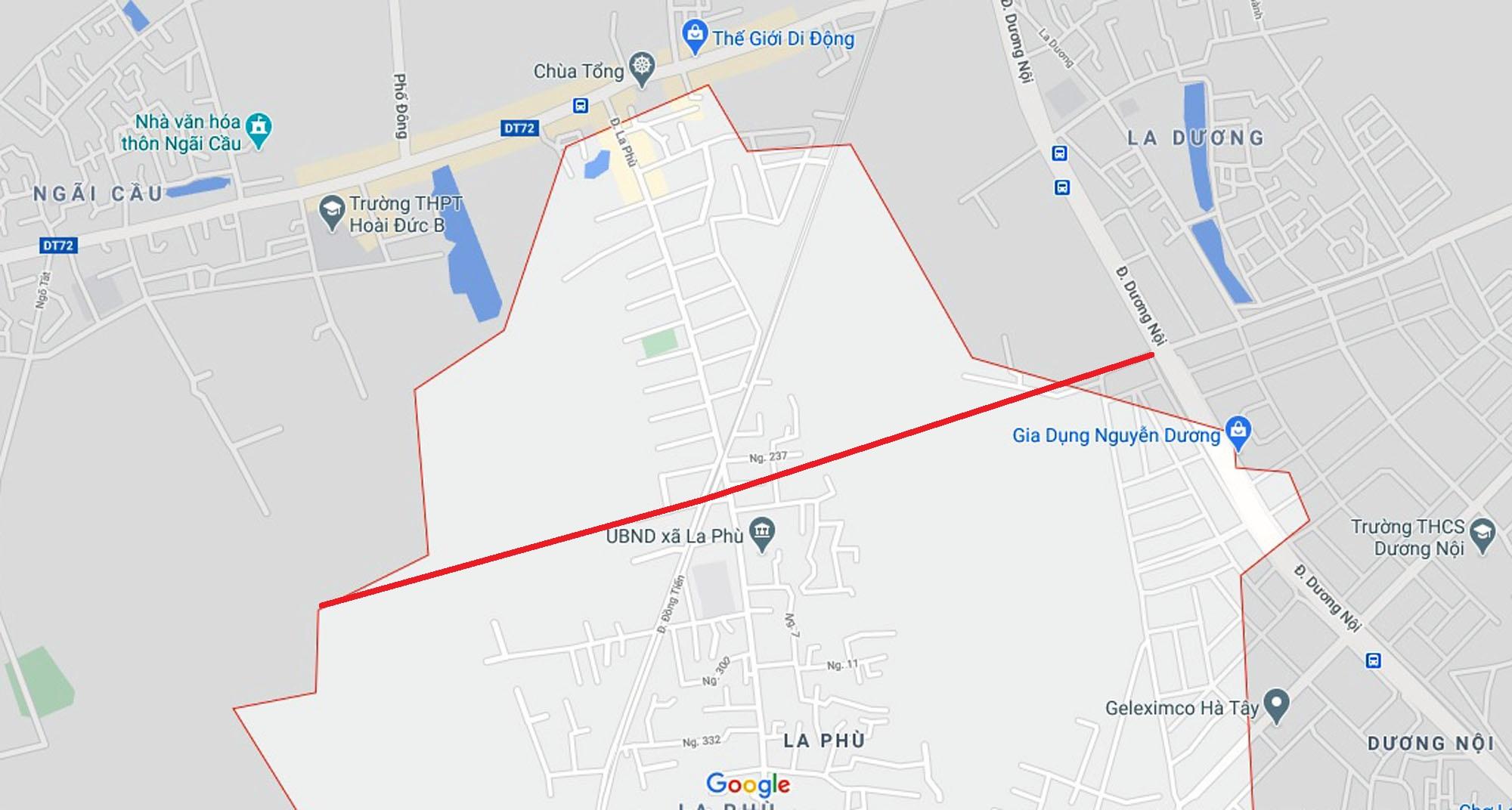 Ba đường sẽ mở theo qui hoạch ở xã La Phù, Hoài Đức, Hà Nội - Ảnh 2.