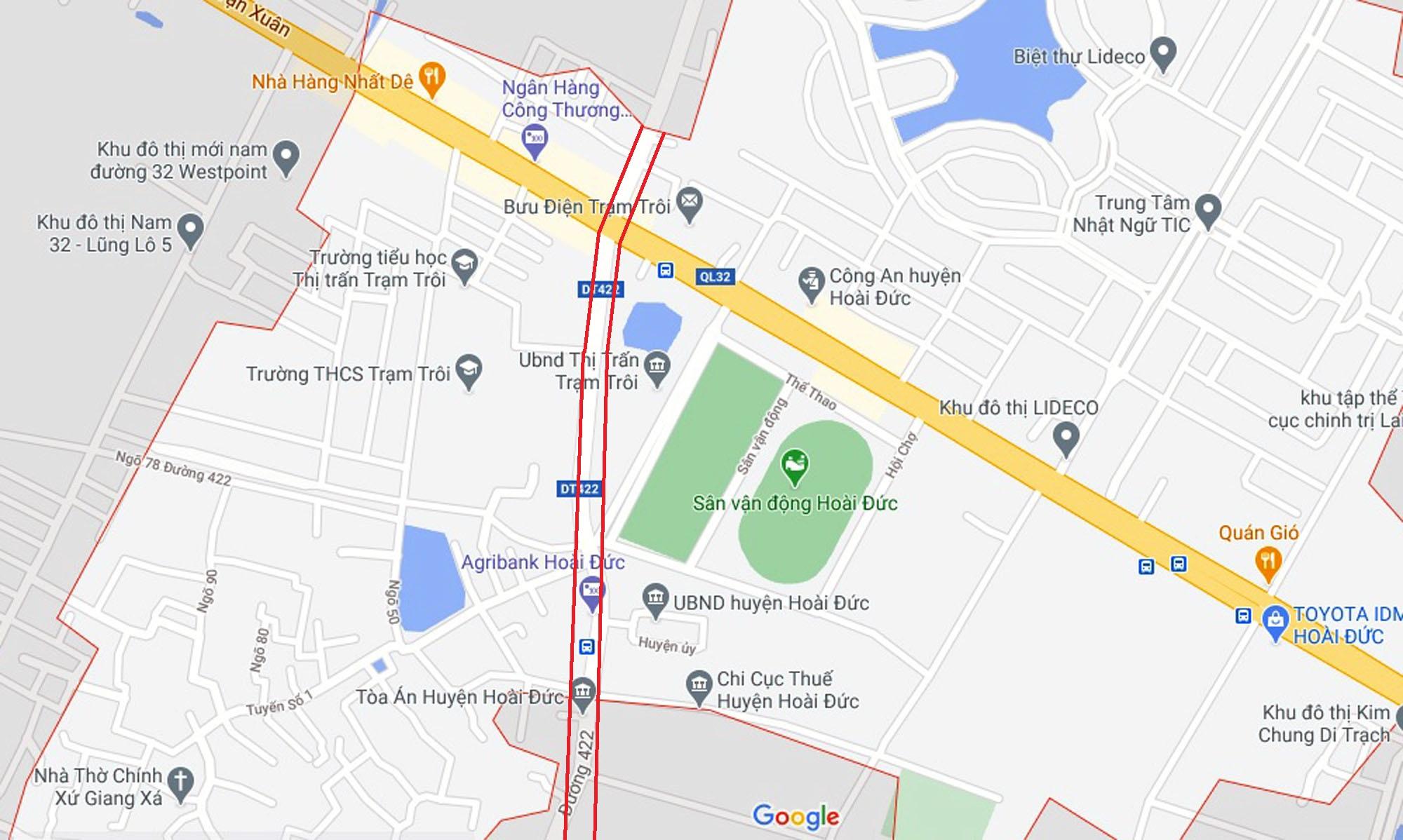 Ba đường sẽ mở theo qui hoạch ở xã thị trấn Trạm Trôi, Hoài Đức, Hà Nội - Ảnh 2.