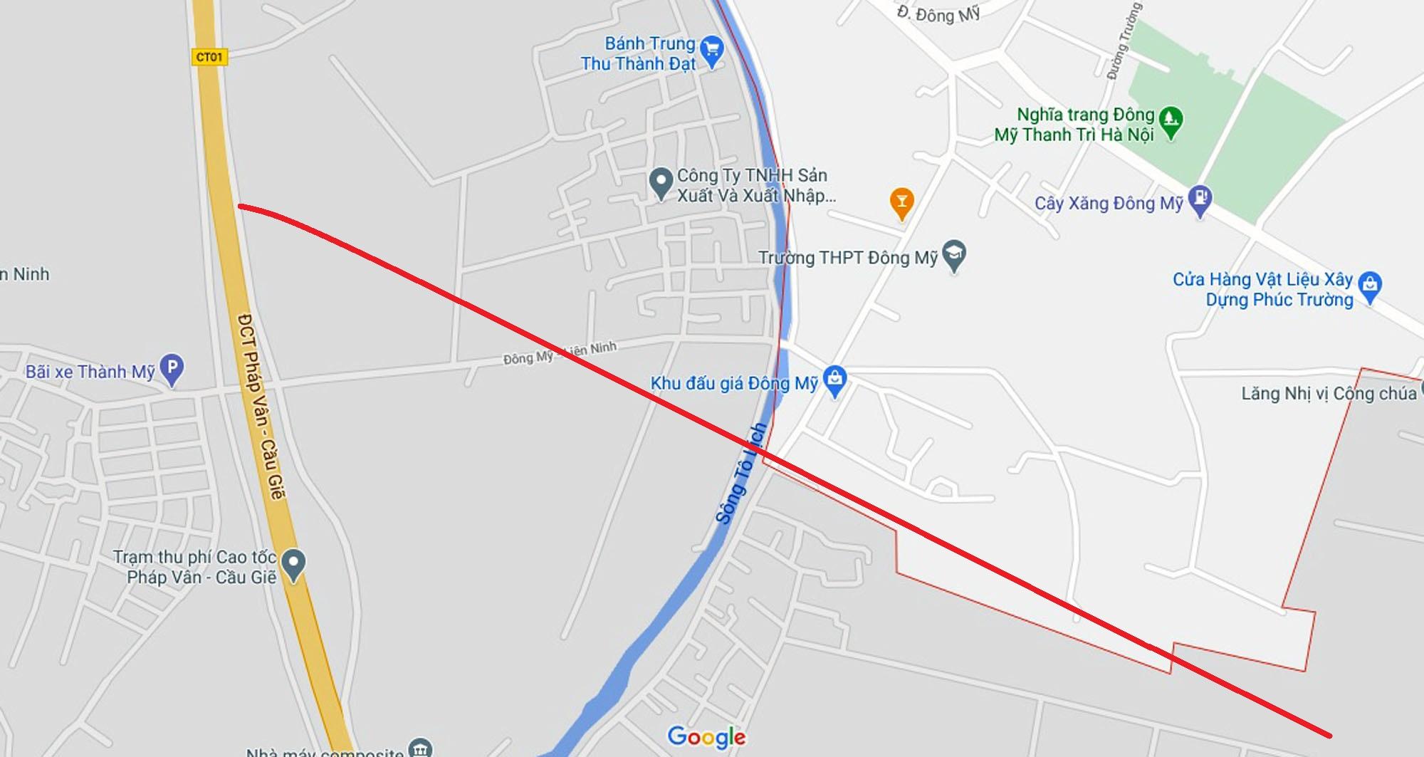 đường sẽ mở theo quy hoạch ở xã Đông Mỹ, Thanh Trì, Hà Nội - Ảnh 2.