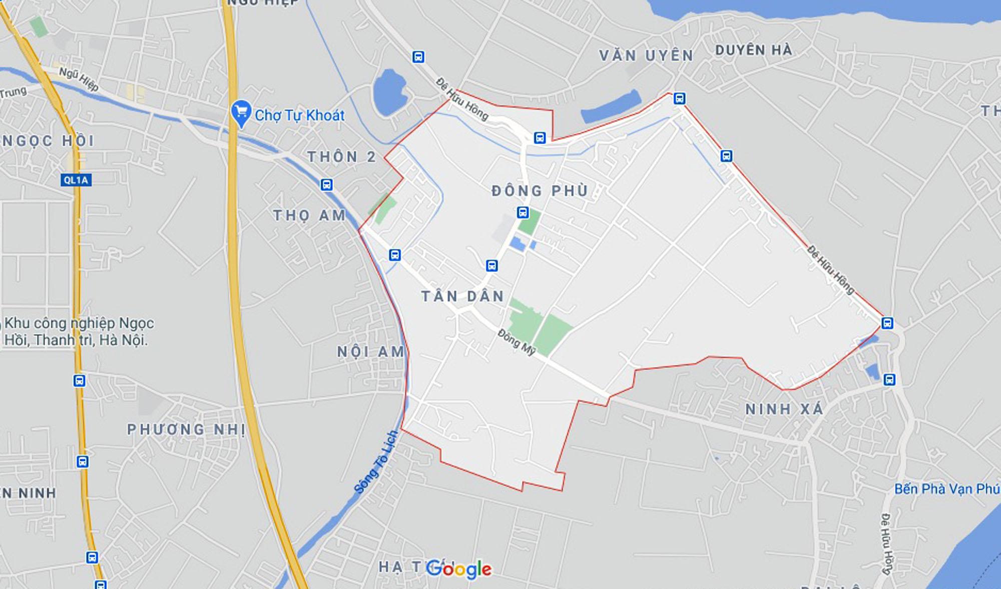 đường sẽ mở theo quy hoạch ở xã Đông Mỹ, Thanh Trì, Hà Nội - Ảnh 1.