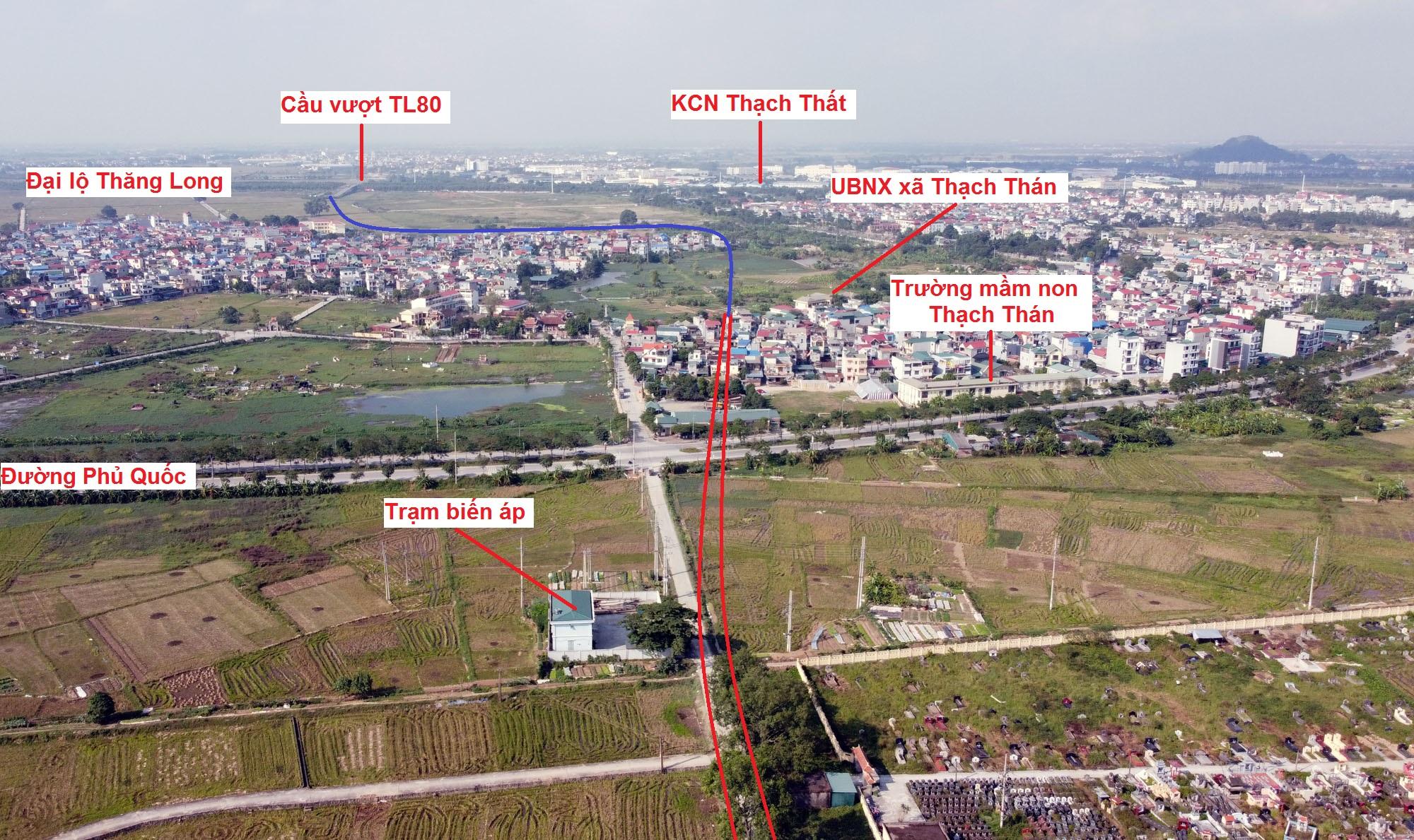 đường sẽ mở theo qui hoạch ở xã Thạch Thán, Quốc Oai, Hà Nội - Ảnh 3.