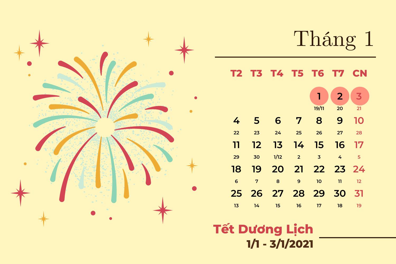 Chi tiết các ngày nghỉ lễ trong năm 2021  - Ảnh 1.
