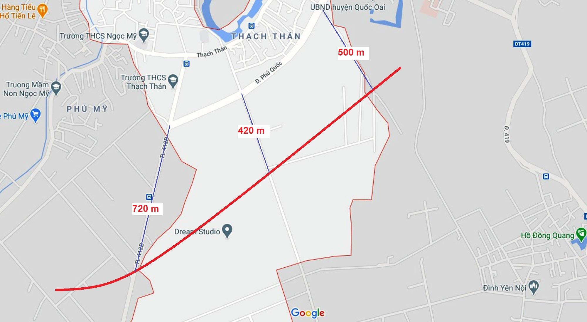 Ba đường sẽ mở theo qui hoạch ở xã Thạch Thán, Quốc Oai, Hà Nội - Ảnh 9.