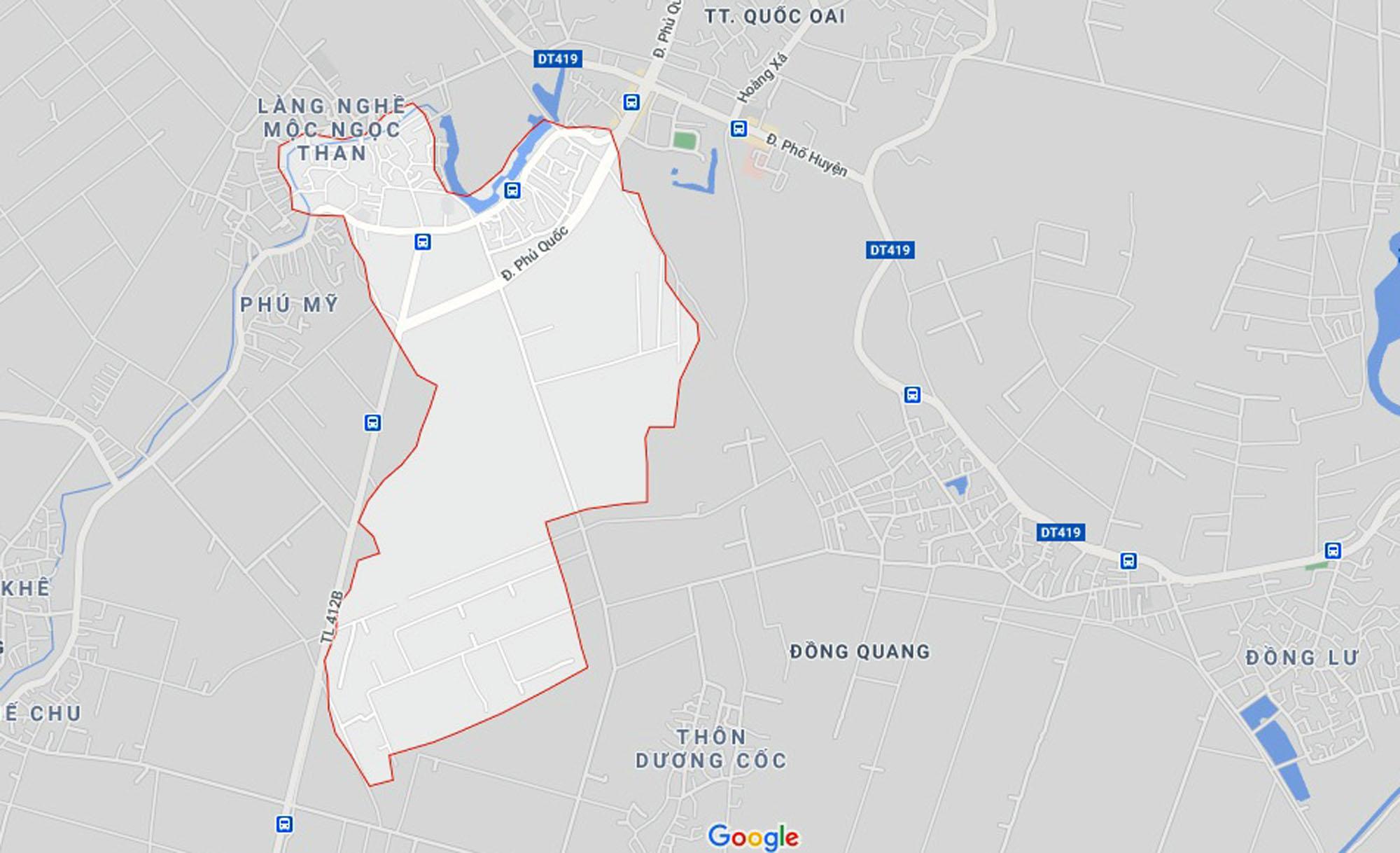 đường sẽ mở theo qui hoạch ở xã Thạch Thán, Quốc Oai, Hà Nội - Ảnh 1.
