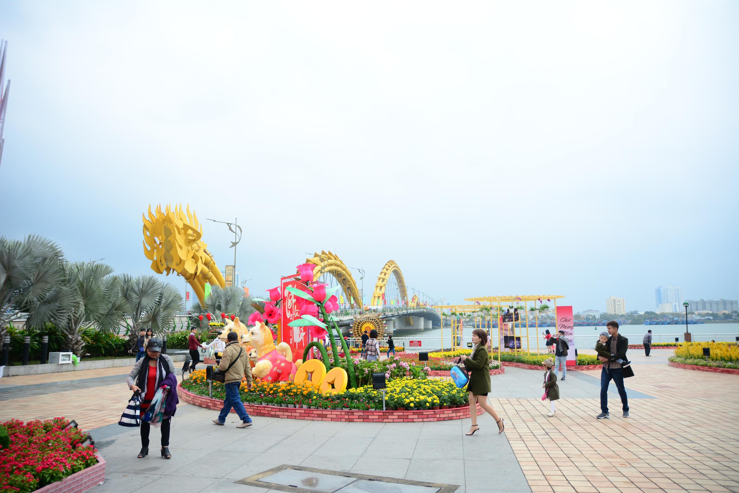 Đà Nẵng chi 10 tỷ đồng trang trí hoa Tết Nguyên đán 2021 - Ảnh 1.