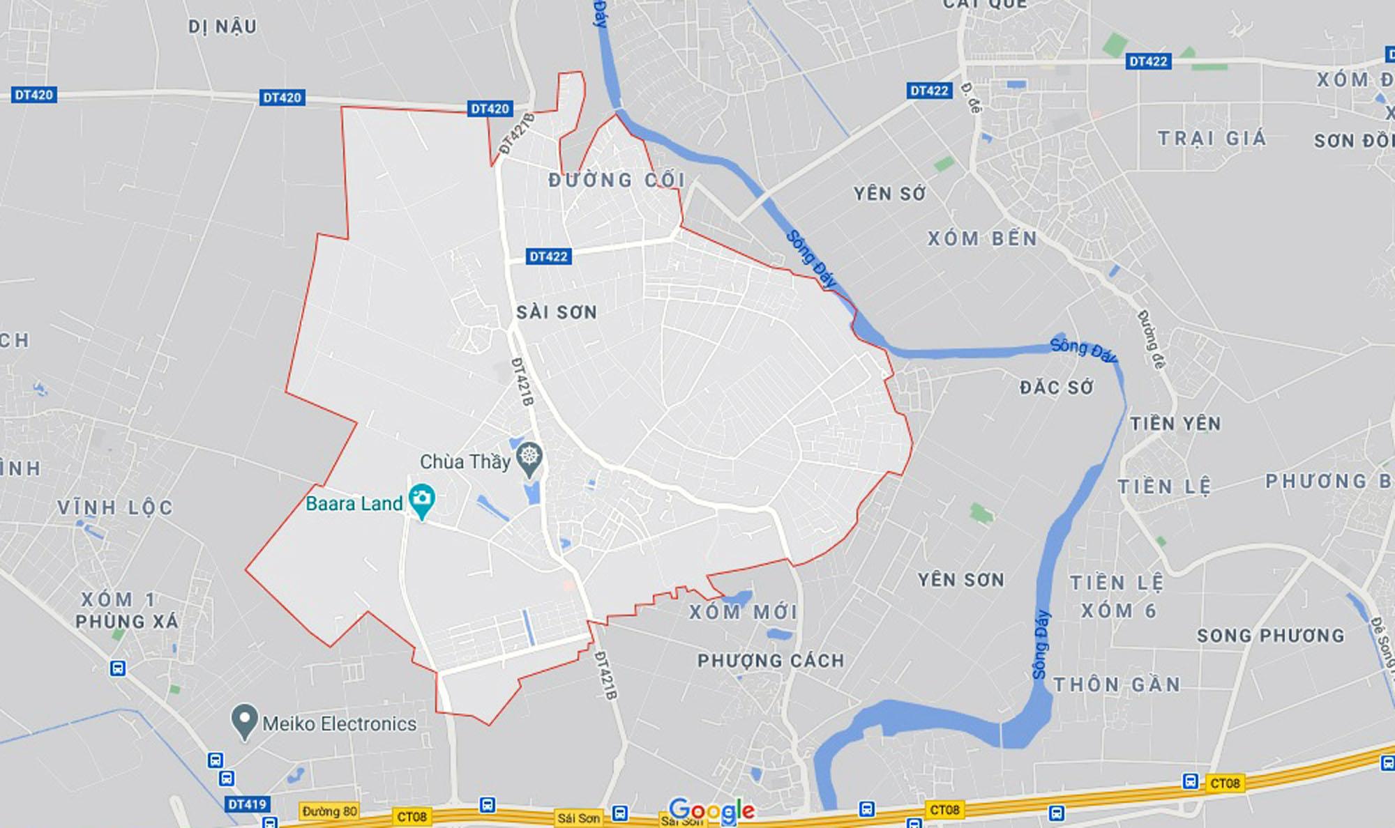Ba đường sẽ mở theo qui hoạch ở xã Sài Sơn, Quốc Oai, Hà Nội - Ảnh 1.