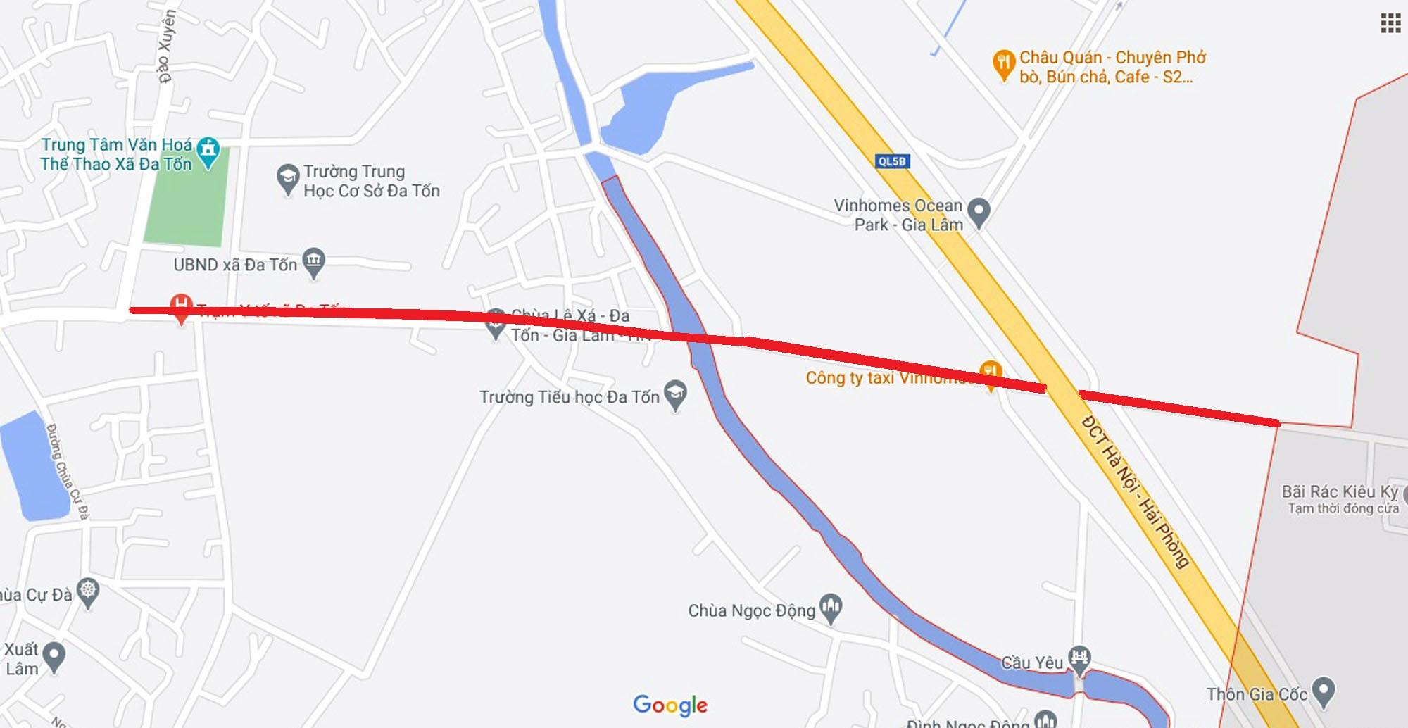 đường sẽ mở theo qui hoạch ở xã Đa Tốn, Gia Lâm, Hà Nội - Ảnh 2.