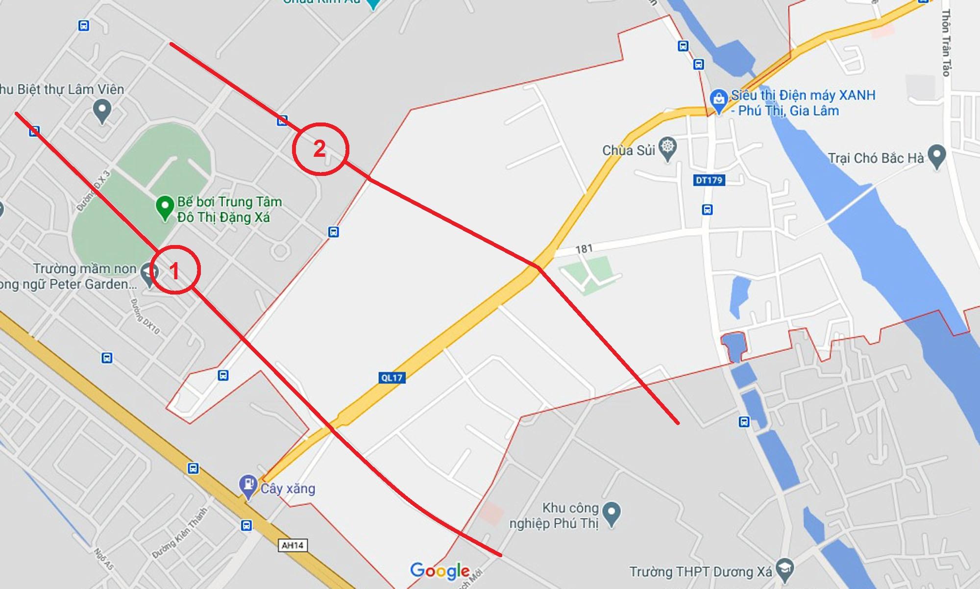 đường sẽ mở theo qui hoạch ở xã Phú Thị, Gia Lâm, Hà Nội - Ảnh 2.
