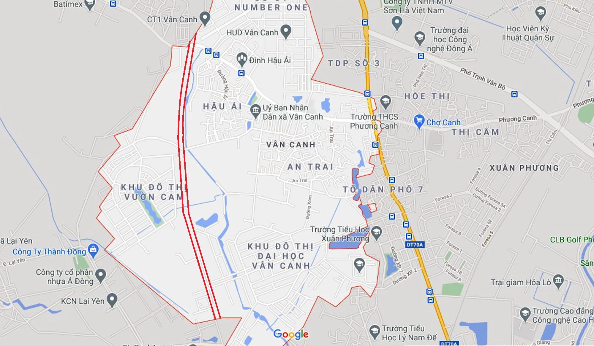 đường sẽ mở theo qui hoạch ở xã Vân Canh, Hoài Đức, Hà Nội - Ảnh 2.