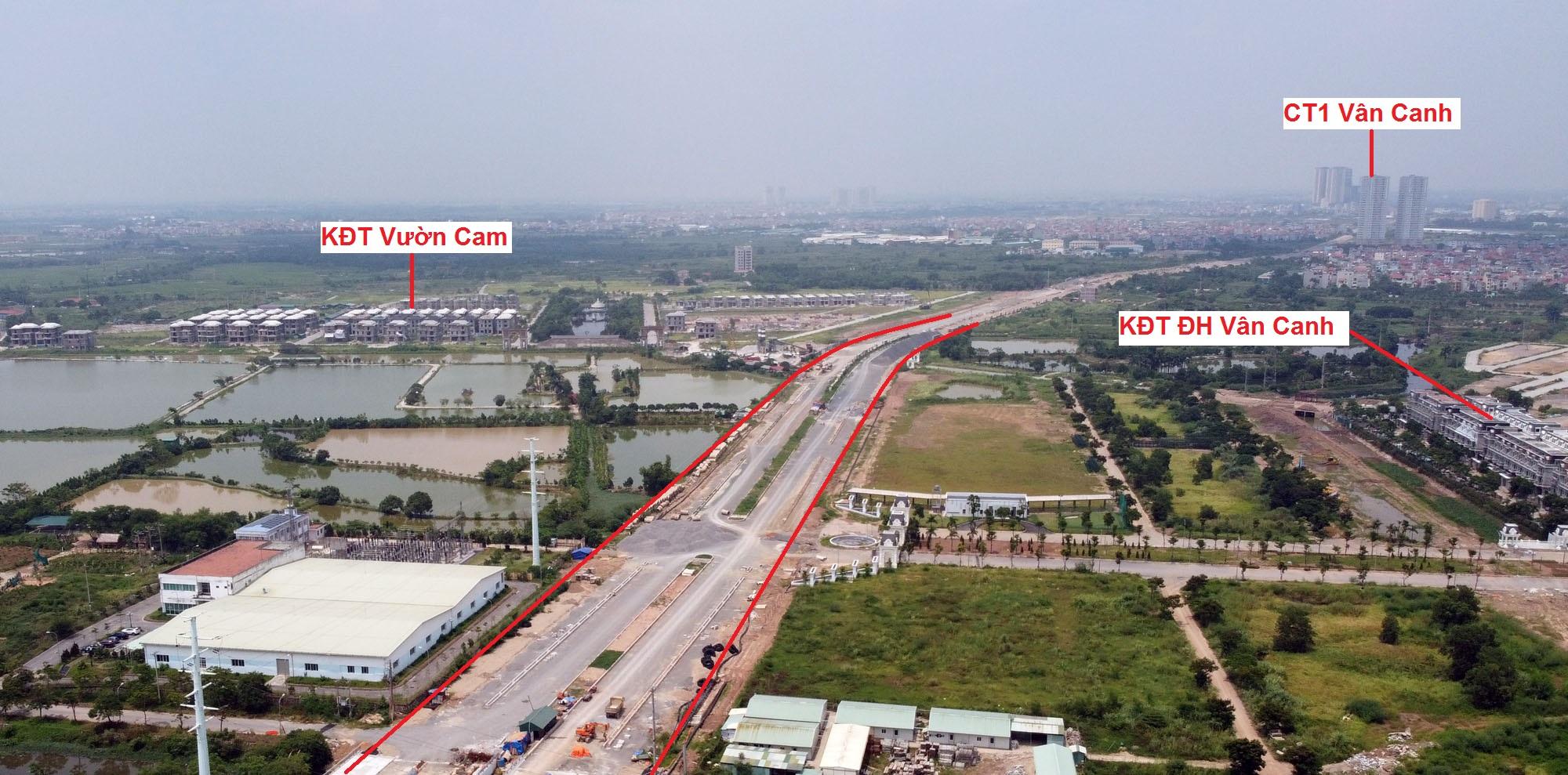 đường sẽ mở theo qui hoạch ở xã Vân Canh, Hoài Đức, Hà Nội - Ảnh 4.