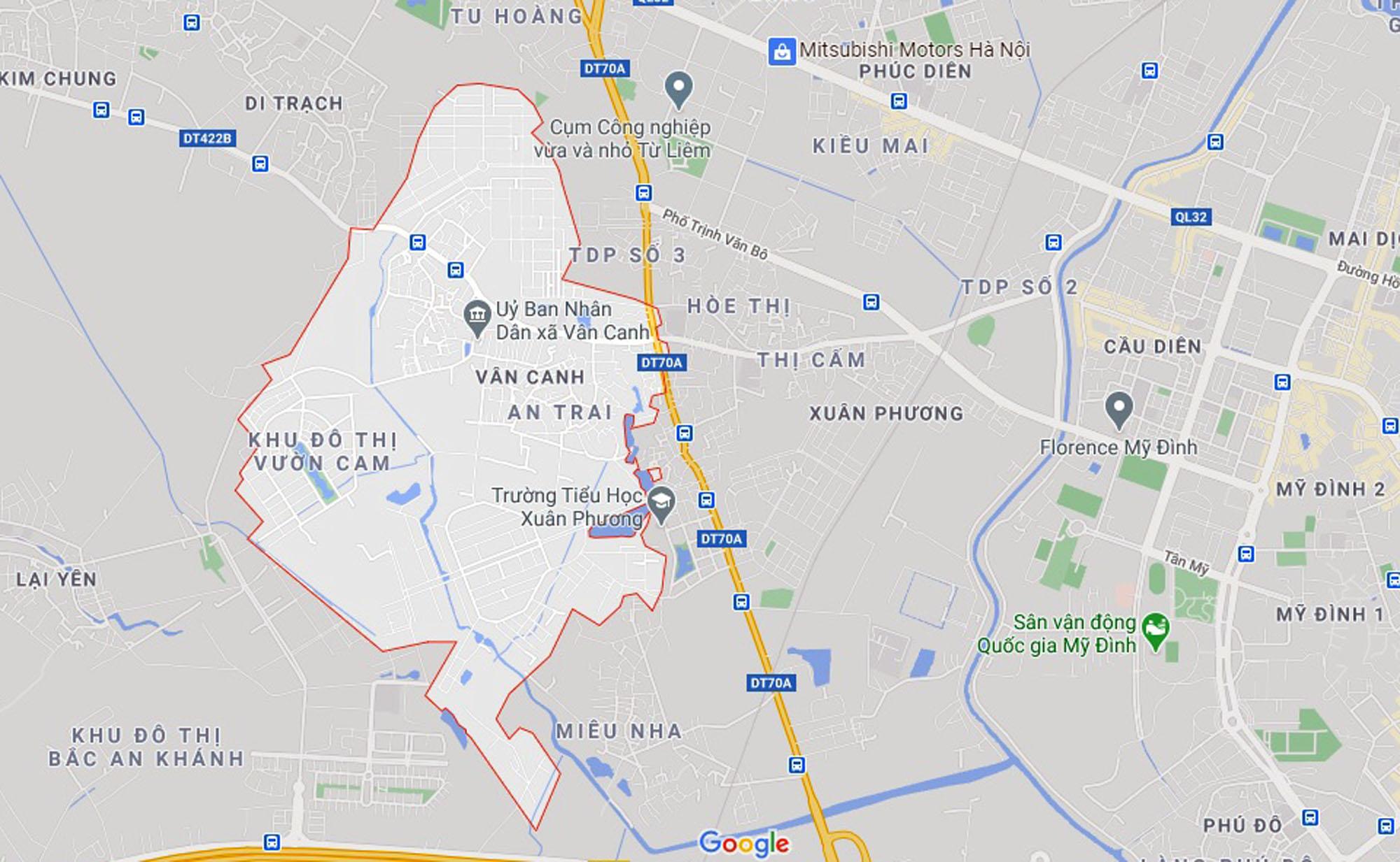 đường sẽ mở theo qui hoạch ở xã Vân Canh, Hoài Đức, Hà Nội - Ảnh 1.