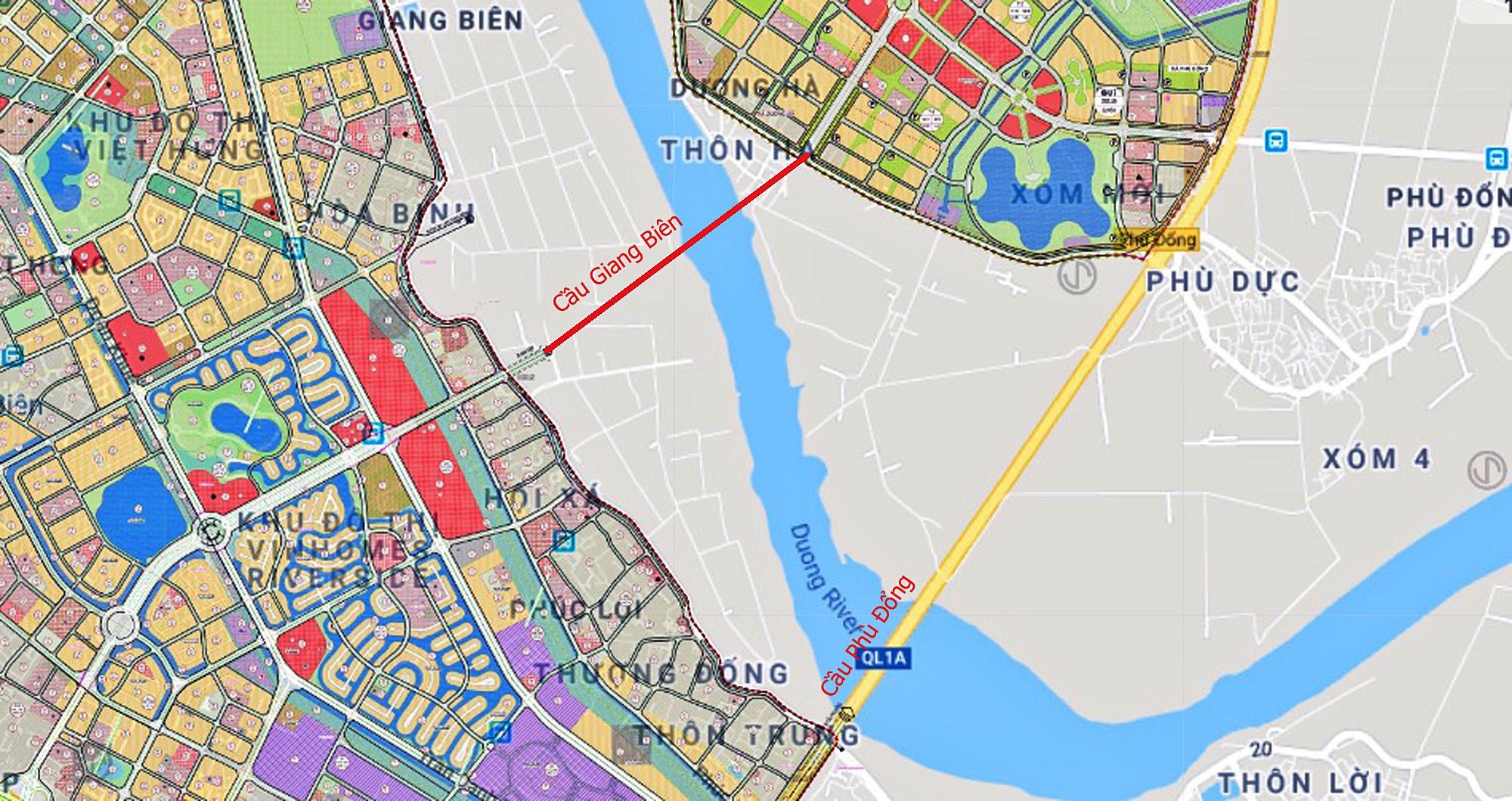 Cầu sẽ mở theo qui hoạch ở Hà Nội: Toành cảnh vị trí làm cầu Giang Biên - Ảnh 1.