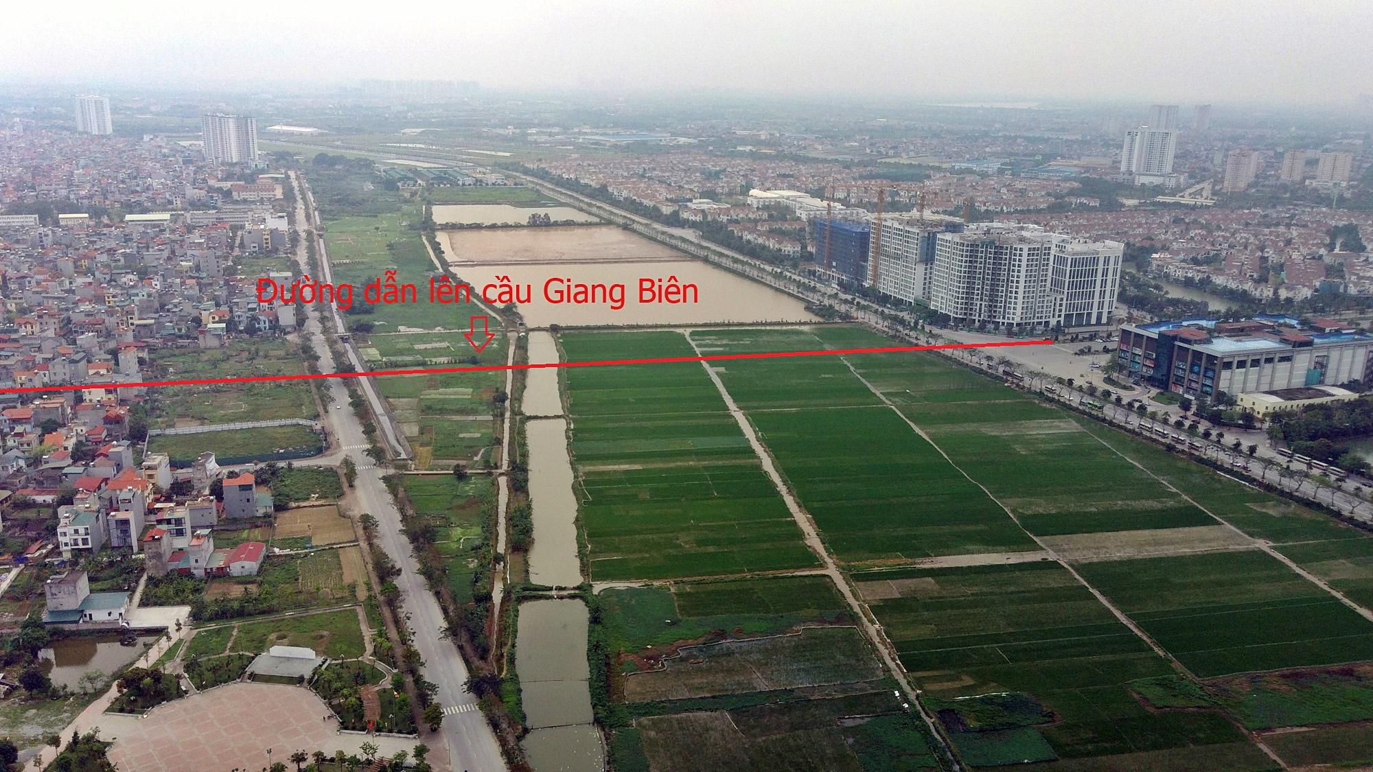 Cầu sẽ mở theo qui hoạch ở Hà Nội: Toành cảnh vị trí làm cầu Giang Biên - Ảnh 4.