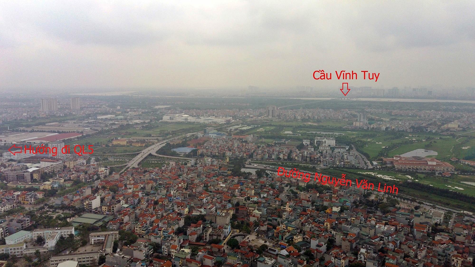 Cầu sẽ mở theo qui hoạch ở Hà Nội: Toành cảnh vị trí làm cầu Giang Biên - Ảnh 10.