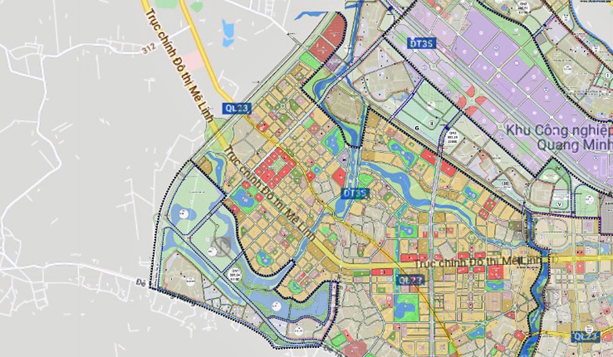 Cầu sẽ mở theo qui hoạch ở Hà Nội: Toàn cảnh vị trí làm cầu Hồng Hà nối Đan Phượng với Mê Linh - Ảnh 9.