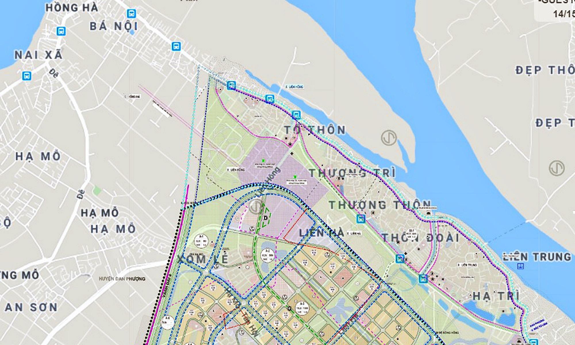 Cầu sẽ mở theo qui hoạch ở Hà Nội: Toàn cảnh vị trí làm cầu Hồng Hà nối Đan Phượng với Mê Linh - Ảnh 5.